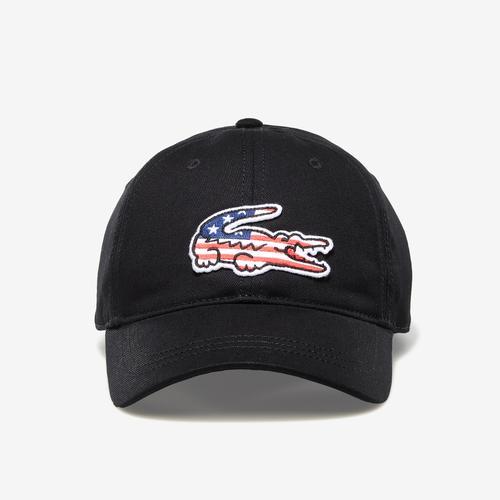 Lacoste Big Croc USA Gabardine Cap