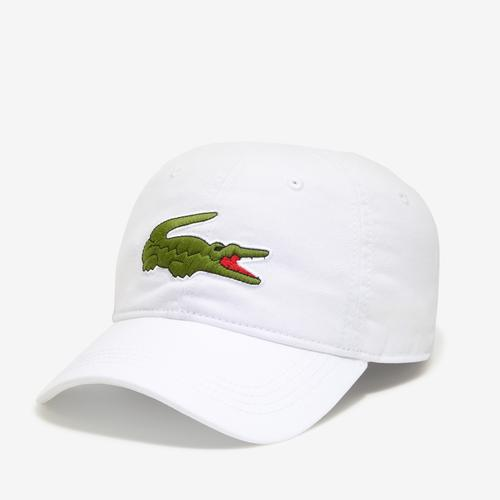 Front Right View of Lacoste Big Croc Gabardine Cap