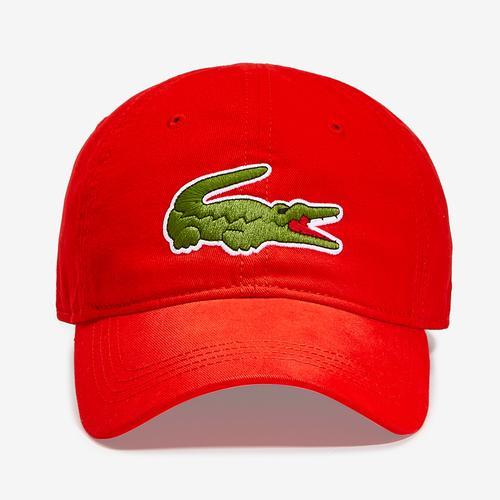 Front View of Lacoste Big Croc Gabardine Cap