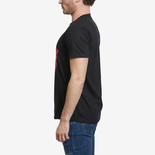 Right Side View of BRAVADO Men's Rolling Stones Tongue Logo T-Shirt