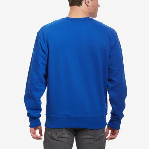 Back View of Champion Men's Powerblend Sweats Pullover Crew