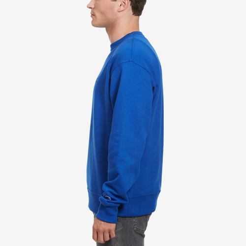 Left Side View of Champion Men's Powerblend Sweats Pullover Crew