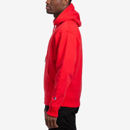 Left Side View of Champion Men's Powerblend Sweats Pullover Hoodie