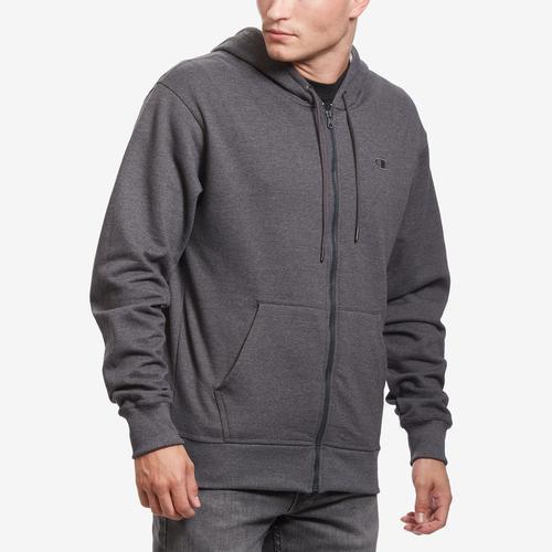 Front View of Champion Men's Powerblend Sweats Full Zip Jacket