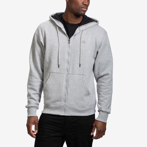 Front View of Champion Men's Powerblend Sweats Full Zip Jacket