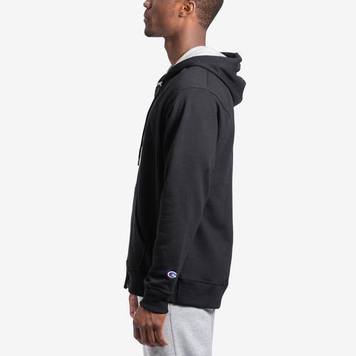 Left Side View of Champion Men's Powerblend Sweats Full Zip Jacket