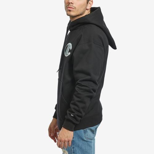 Right Side View of Champion Men's Super Fleece Cone Hoodie