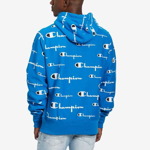 Champion Reverse Weave Pullover Hood, All-Over Logo