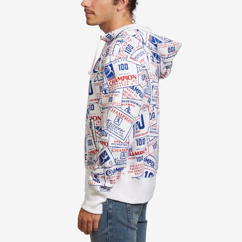 Left Side View of Champion Men's Century Collection Pullover Hoodie