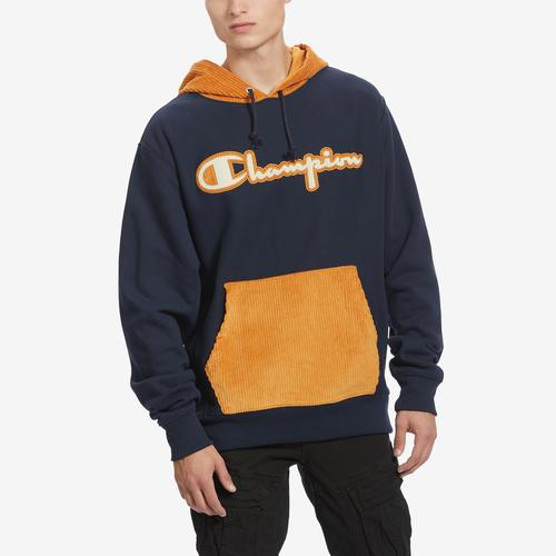 Front View of Champion Men's Life Reverse Weave & Corduroy Hoodie