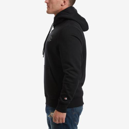 Left Side View of Champion Men's Life Super Hood 2.0 Pullover Hoodie