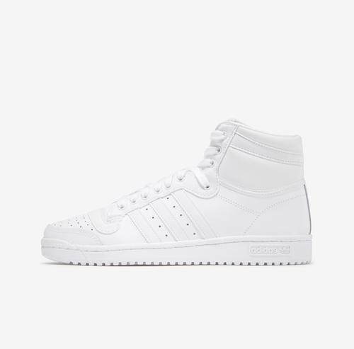 Left Side View of adidas Men's Top Ten Hi Sneakers
