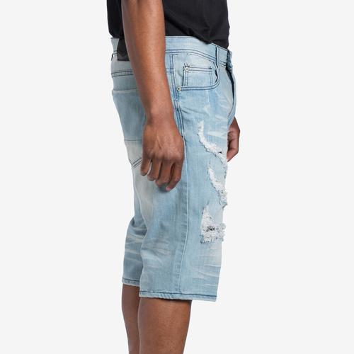 Right Side View of EBL Men's Five Pocket Denim Shorts