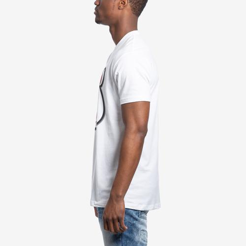 Left Side View of Baws Men's Scar Baws T-Shirt