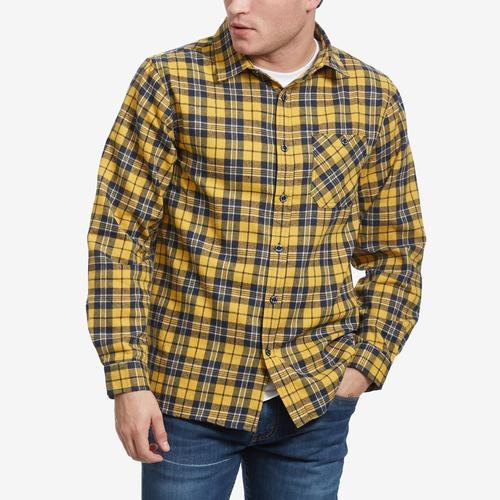 Front View of Smoke Rise Men's Plaid Flannel Shirt