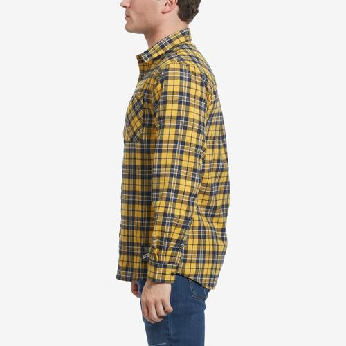 Left Side View of Smoke Rise Men's Plaid Flannel Shirt