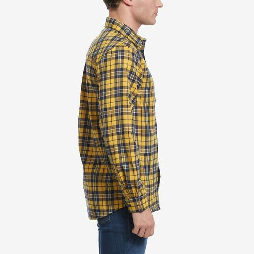 Right Side View of Smoke Rise Men's Plaid Flannel Shirt