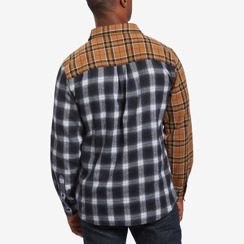 Smoke Rise Plaid Patch Flannel Shirt