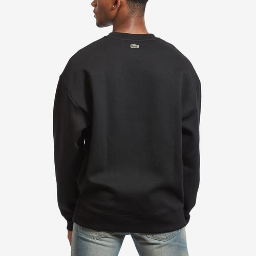 Lacoste Men's Unisex LIVE Signature Texturized Fleece Sweatshirt