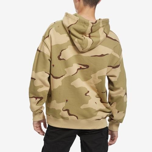 Lacoste LIVE Hooded Camo Print Fleece Sweatshirt