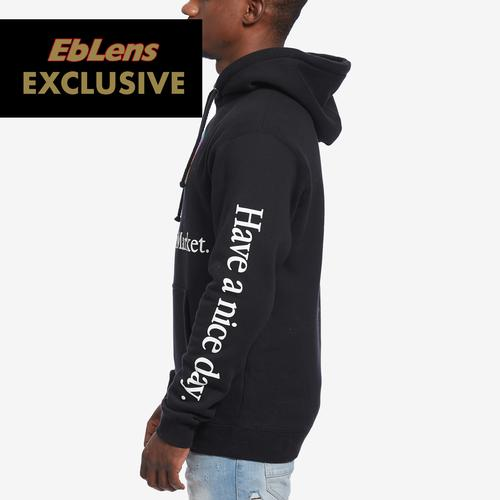 Left Side View of Chinatown Market Men's Smiley Tech Hoodie
