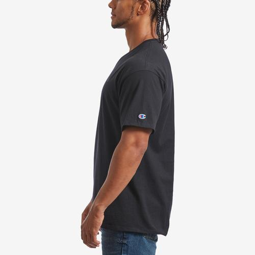 Left Side View of Champion Men's Classic Jersey V-Neck