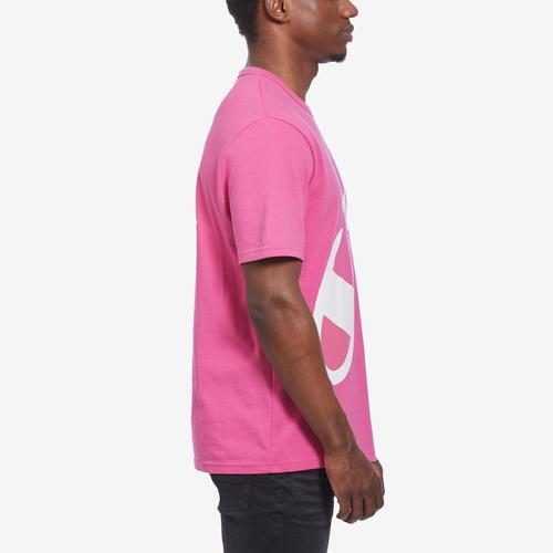Left Side View of Champion Men's Life Heritage Tee, Wraparound Logo