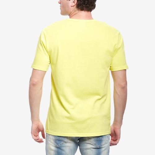 Back View of Champion Men's Life Heritage Tee, Pop Color Jock Tag