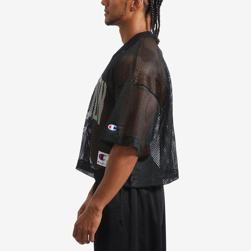 Left Side View of Champion Men's Mesh Football Jersey