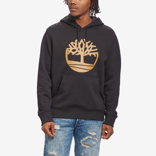 Front View of Timberland Men's Essential Tree Logo Hoodie