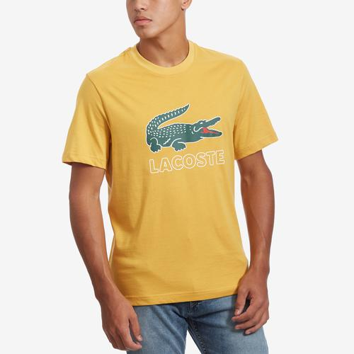 Front View of Lacoste Men's Graphic Croc T-shirt