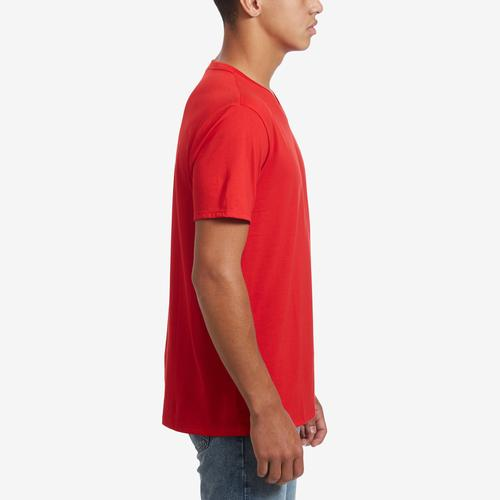 Right Side View of Lacoste Men's V-Neck Pima Cotton Jersey T-Shirt