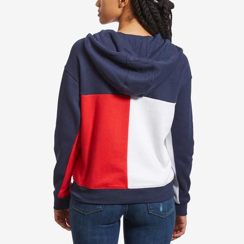 Tommy Hilfiger Women's Sport Colorblock Zip Up Hoodie