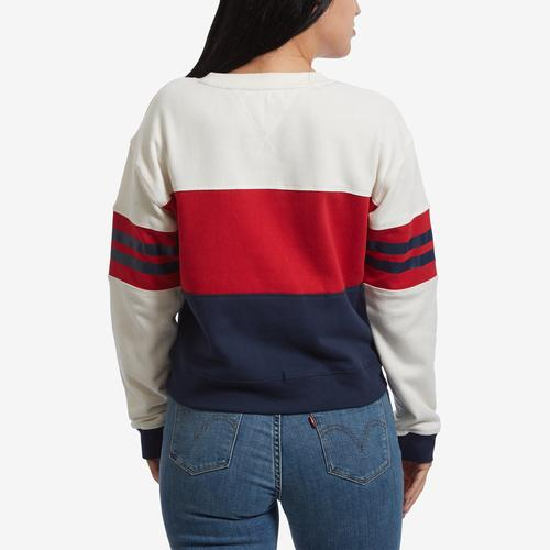 Tommy Hilfiger Women's Cropped Color Block Logo Sweatshirt