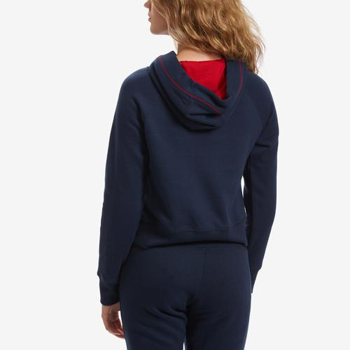 Tommy Hilfiger Cropped Color Block Hoodie