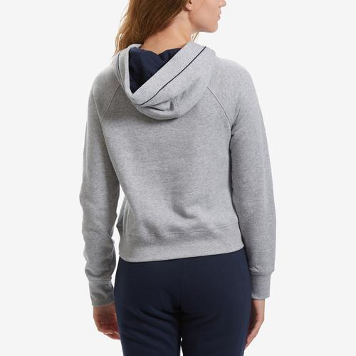Back View of Tommy Hilfiger Women's Cropped Color Block Hoodie