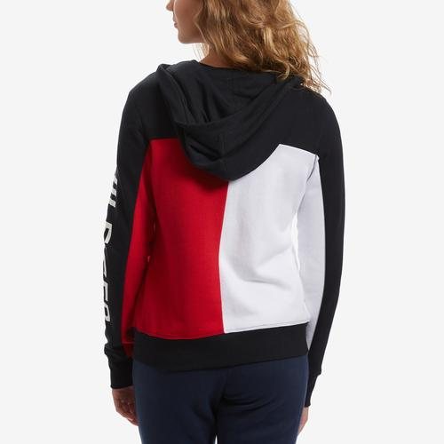 Tommy Hilfiger Color Block Zip Up Hoodie