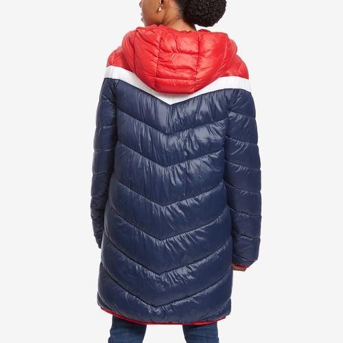 Tommy Hilfiger Long Chevron Colorblock Jacket