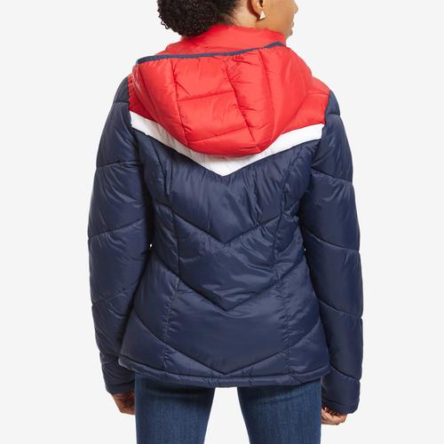 Tommy Hilfiger Women's Chevron Hooded Jacket