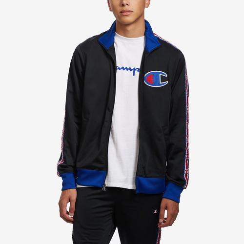 Alternate View of Champion Men's Life Track Jacket, Chain Stitch Big C Logo
