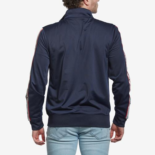 Back View of Champion Men's Champion Track Jacket, Vertical Logo