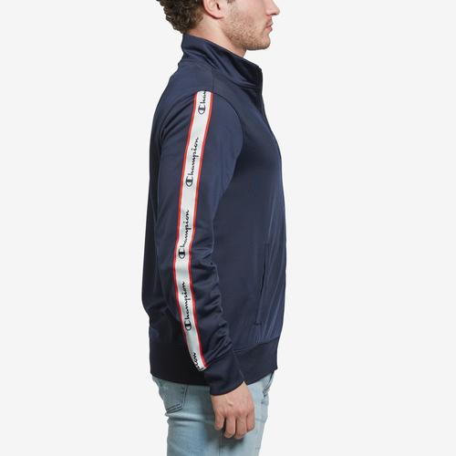 Left Side View of Champion Men's Champion Track Jacket, Vertical Logo
