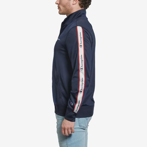 Right Side View of Champion Men's Champion Track Jacket, Vertical Logo
