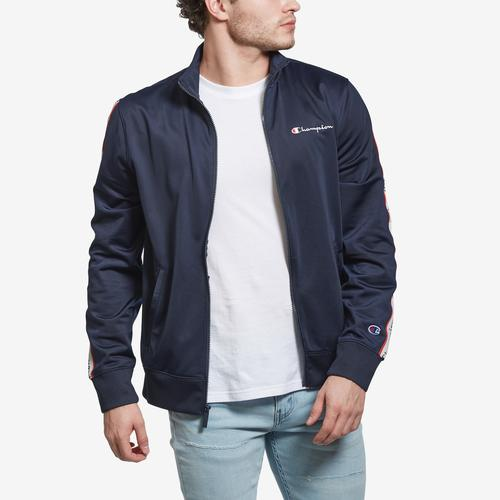 Alternate View of Champion Men's Champion Track Jacket, Vertical Logo