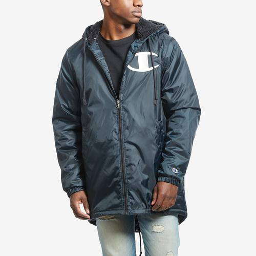 Front View of Champion Men's Life Sherpa-Lined Stadium Jacket
