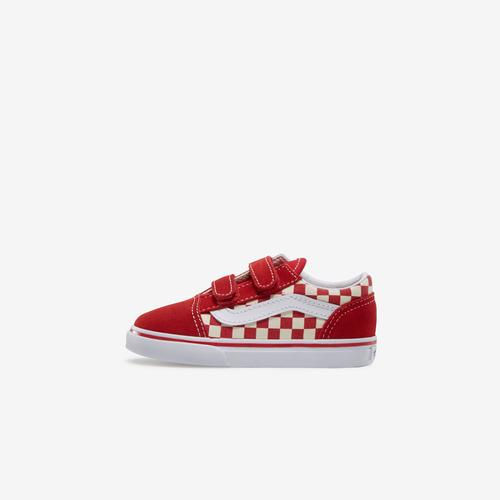 Left Side View of Vans Boy's Toddler Check Old Skool V Sneakers