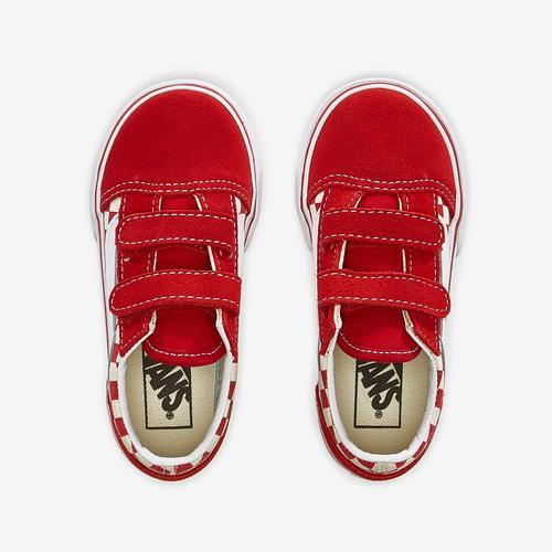 Bottom View of Vans Boy's Toddler Check Old Skool V Sneakers