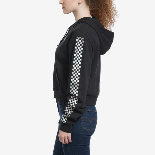 Left Side View of Vans Women's Shine It Crop Hoodie