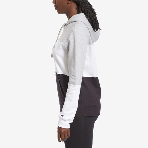 Left Side View of Champion Women's Colorblock Hoodie