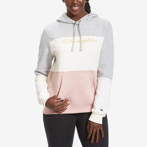 Front View of Champion Women's Colorblock Hoodie